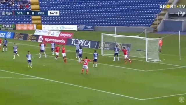 O golo de Chindris que deixou o FC Porto a perder nos Açores