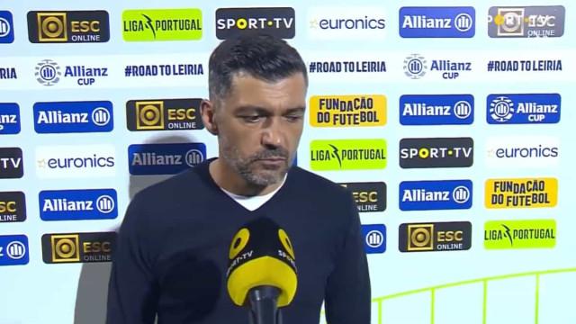 A reação de Sérgio Conceição após a derrota com o Santa Clara