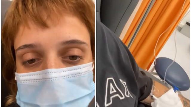 Doente, Carolina Deslandes mostra-se no hospital