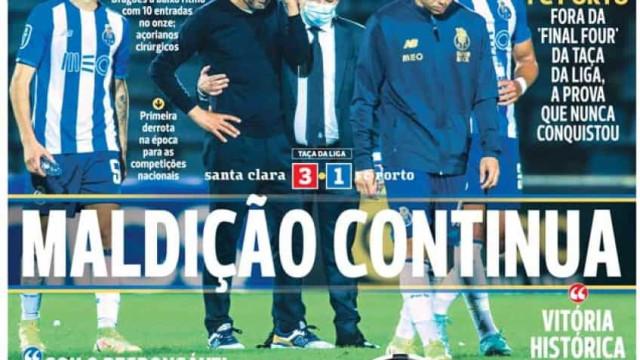 Por cá: Santa Clara põe dragão fora da Taça da Liga; Leão segue em frente