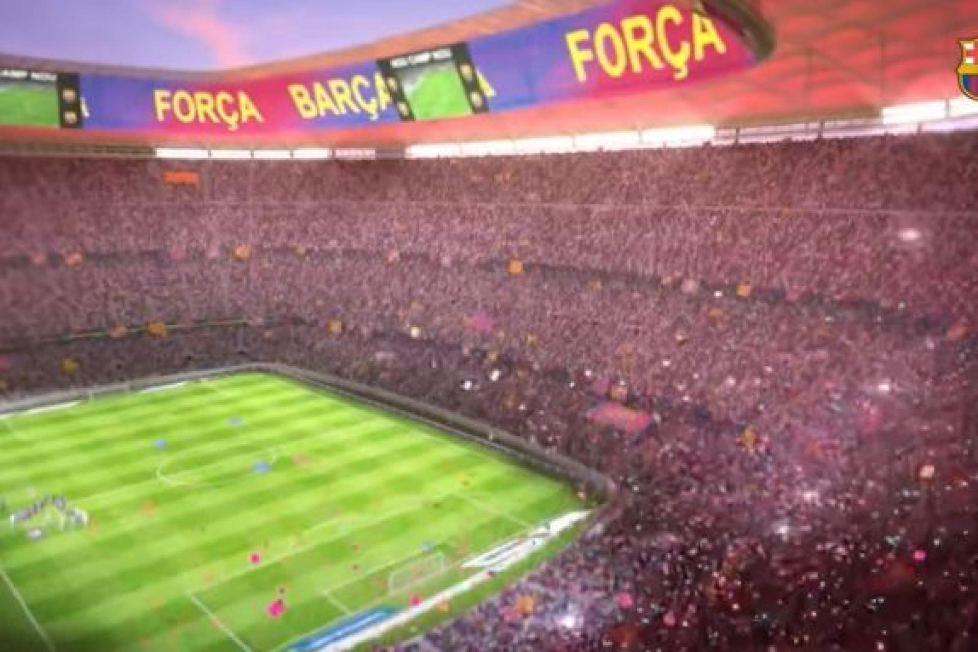 Barcelona apresenta o 'novo' Camp Nou de forma espetacular