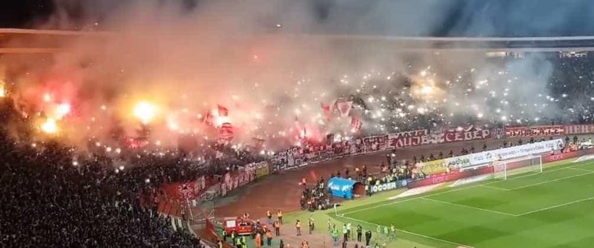O arrepiante ambiente vivido no duelo no Estrela Vermelha-Partizan