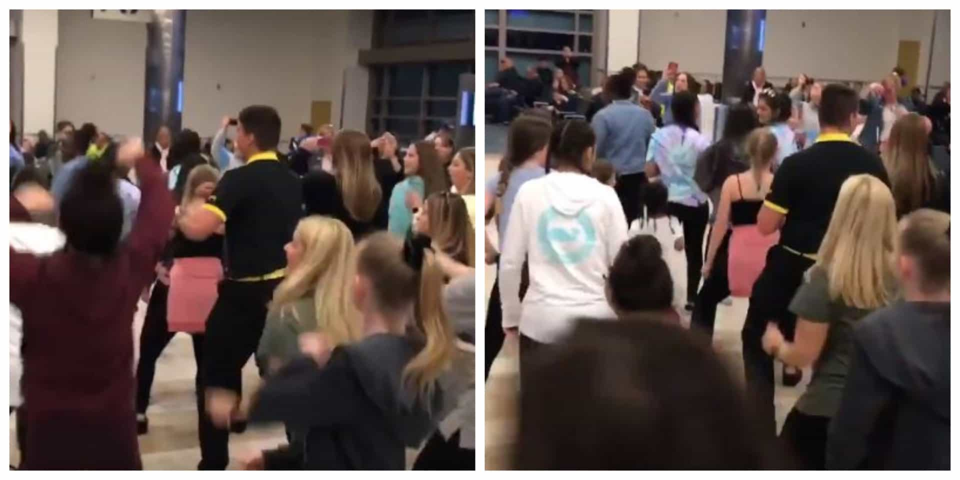 Funcionário da Spirit Airlines faz furor ao dançar com cheerleaders