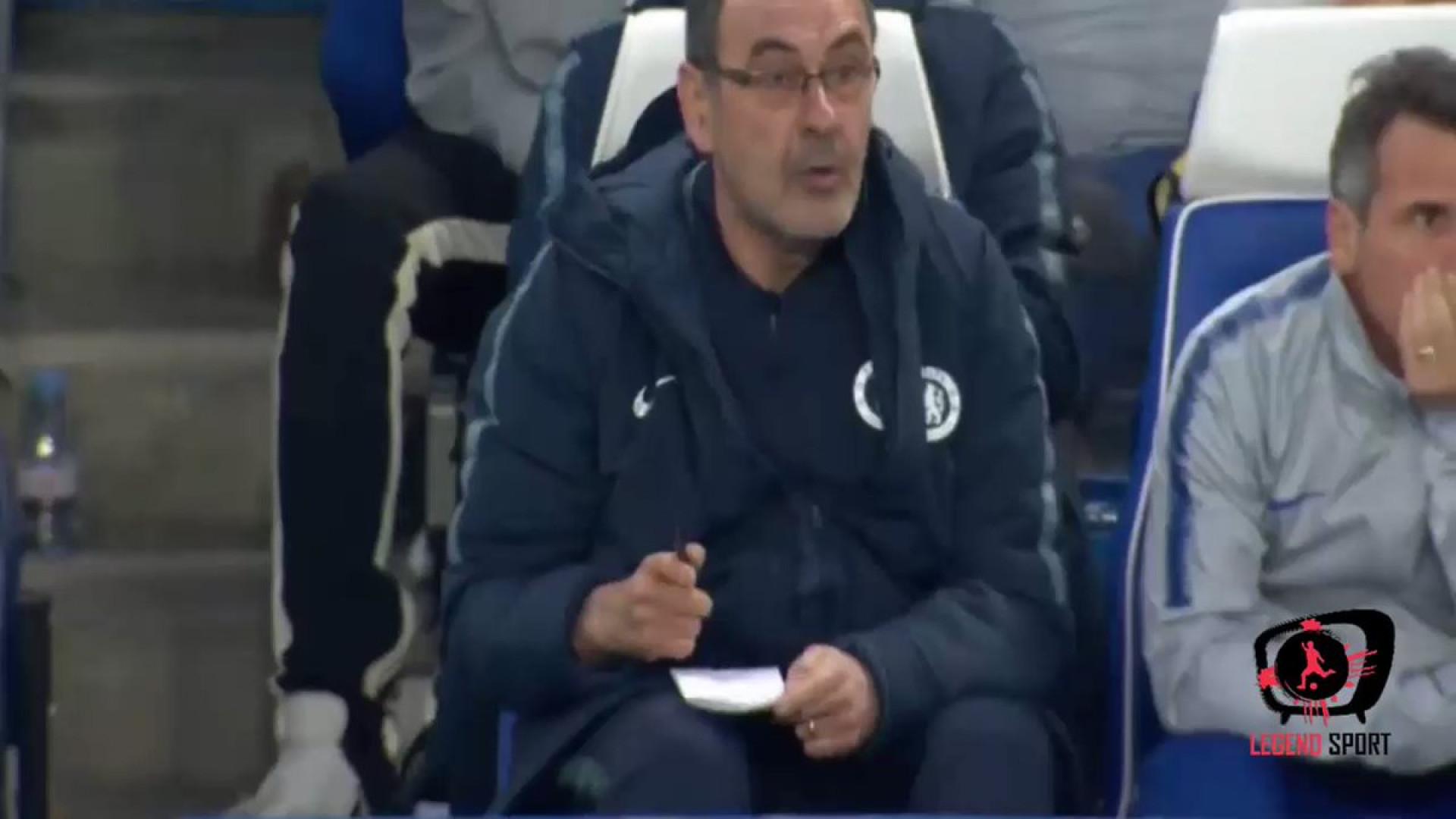 Primeiro golo do Chelsea deixou Sarri de boca aberta
