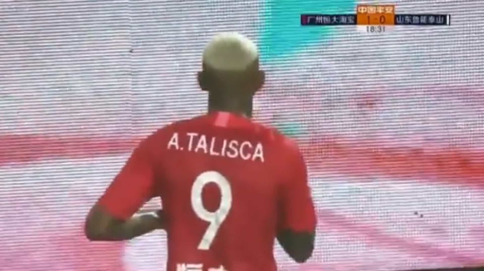 Talisca (quem mais?) volta a marcar mais um golo na China