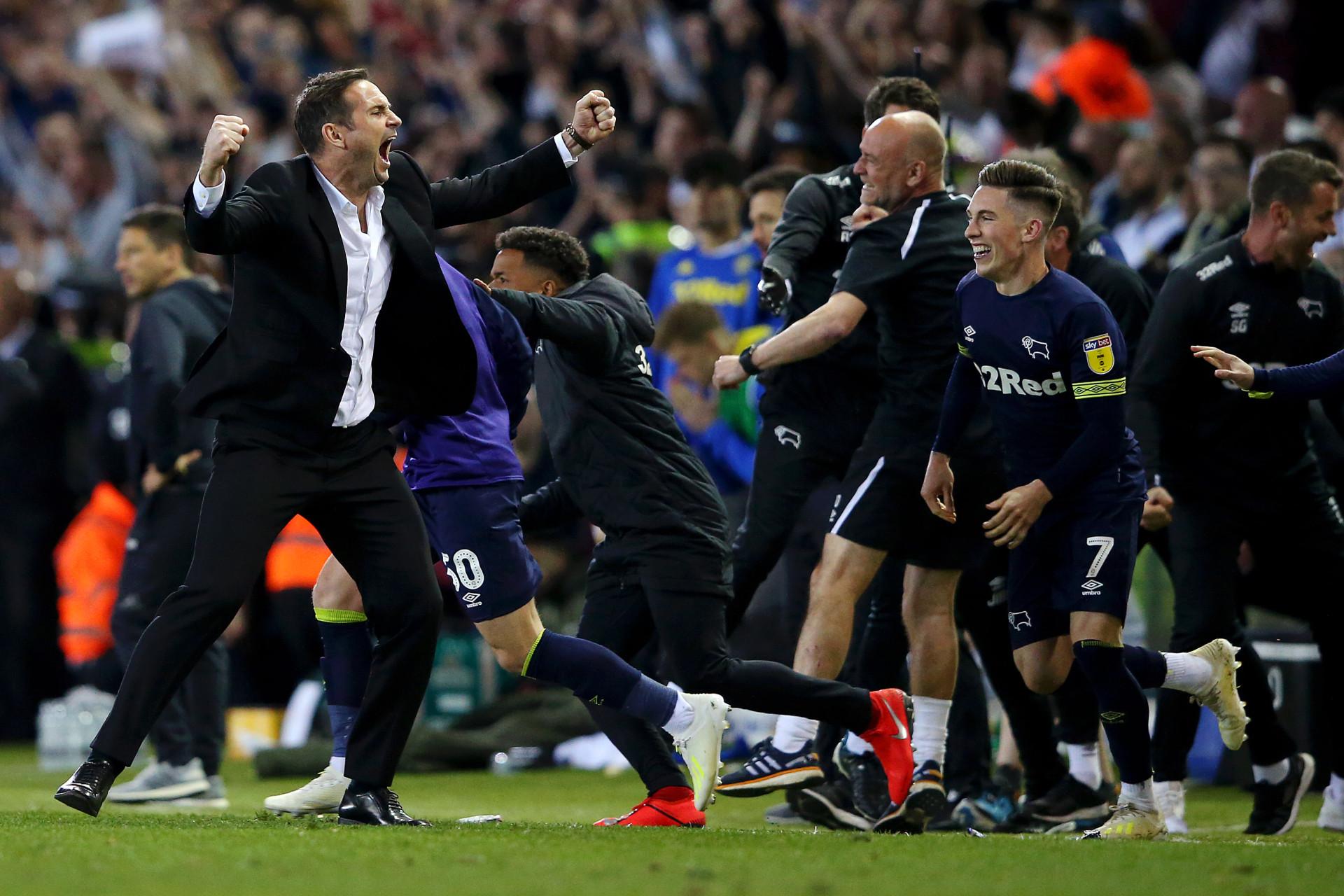 Lampard ficou 'louco' após remontada do Derby em casa do Leeds