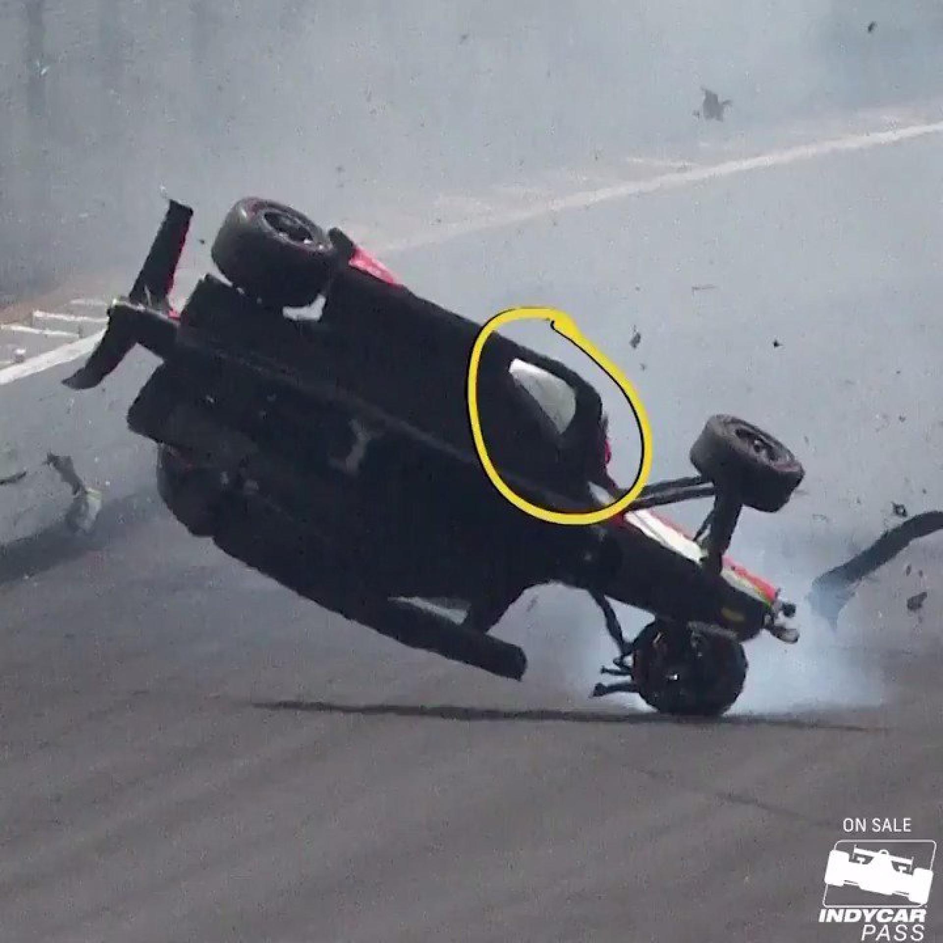 Piloto mexicano protagoniza arrepiante acidente no Indy500