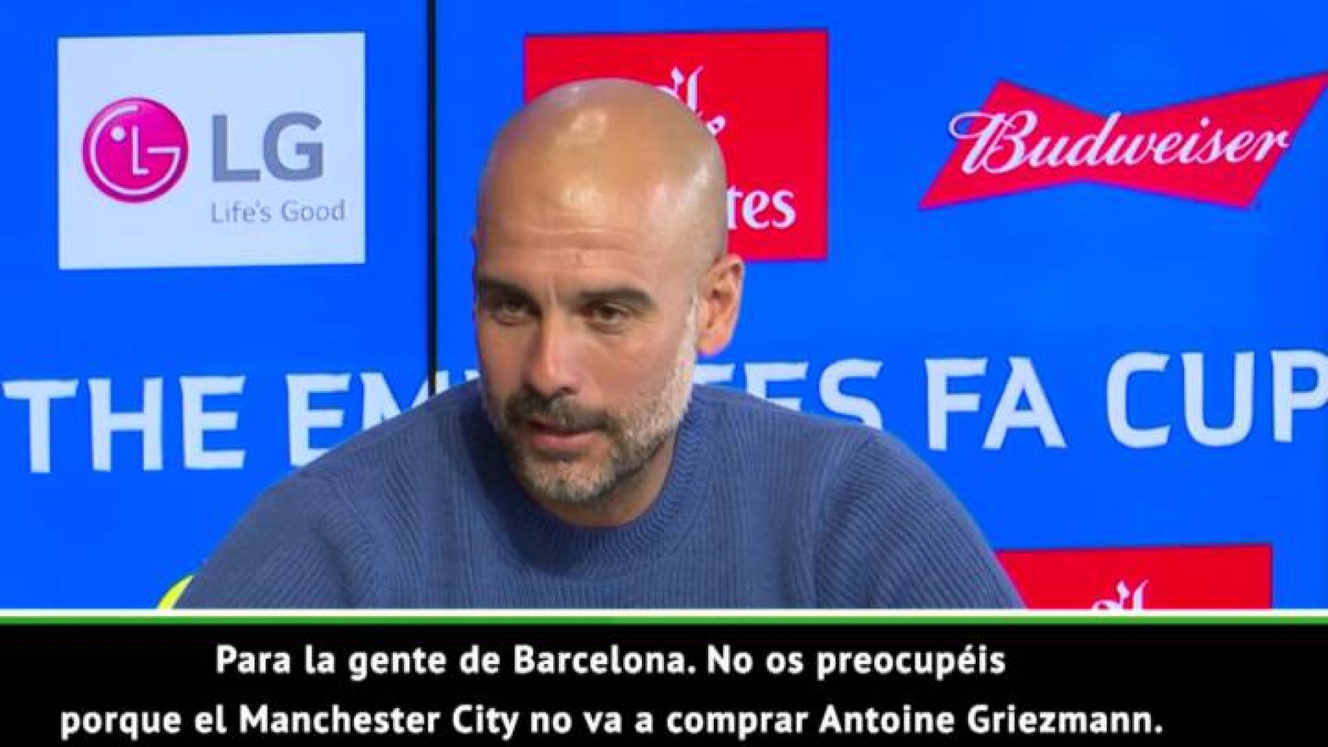 Guardiola deixa recado ao Barcelona por causa de Griezmann