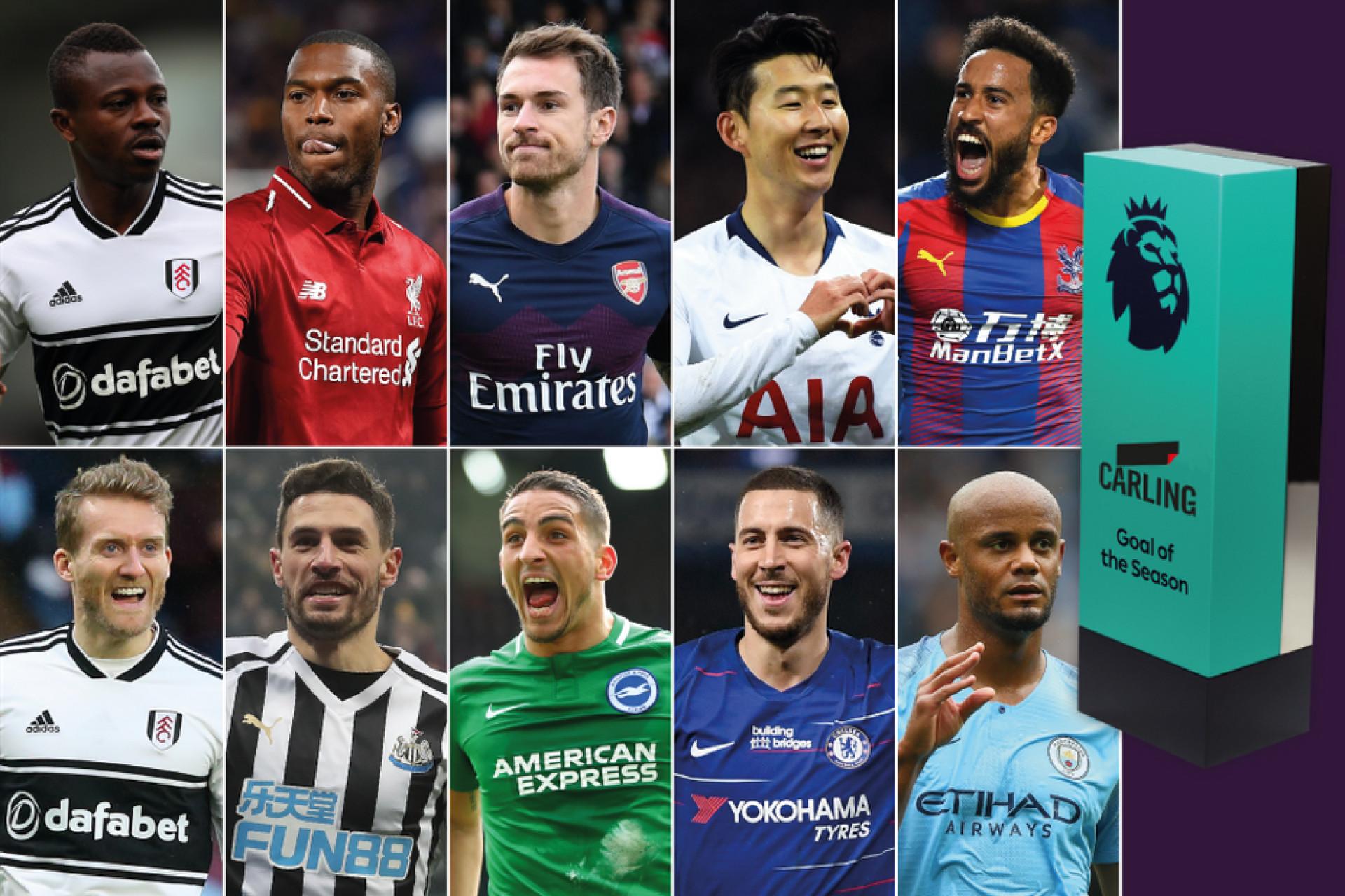 Premier League: São estes os 10 nomeados ao melhor golo da época