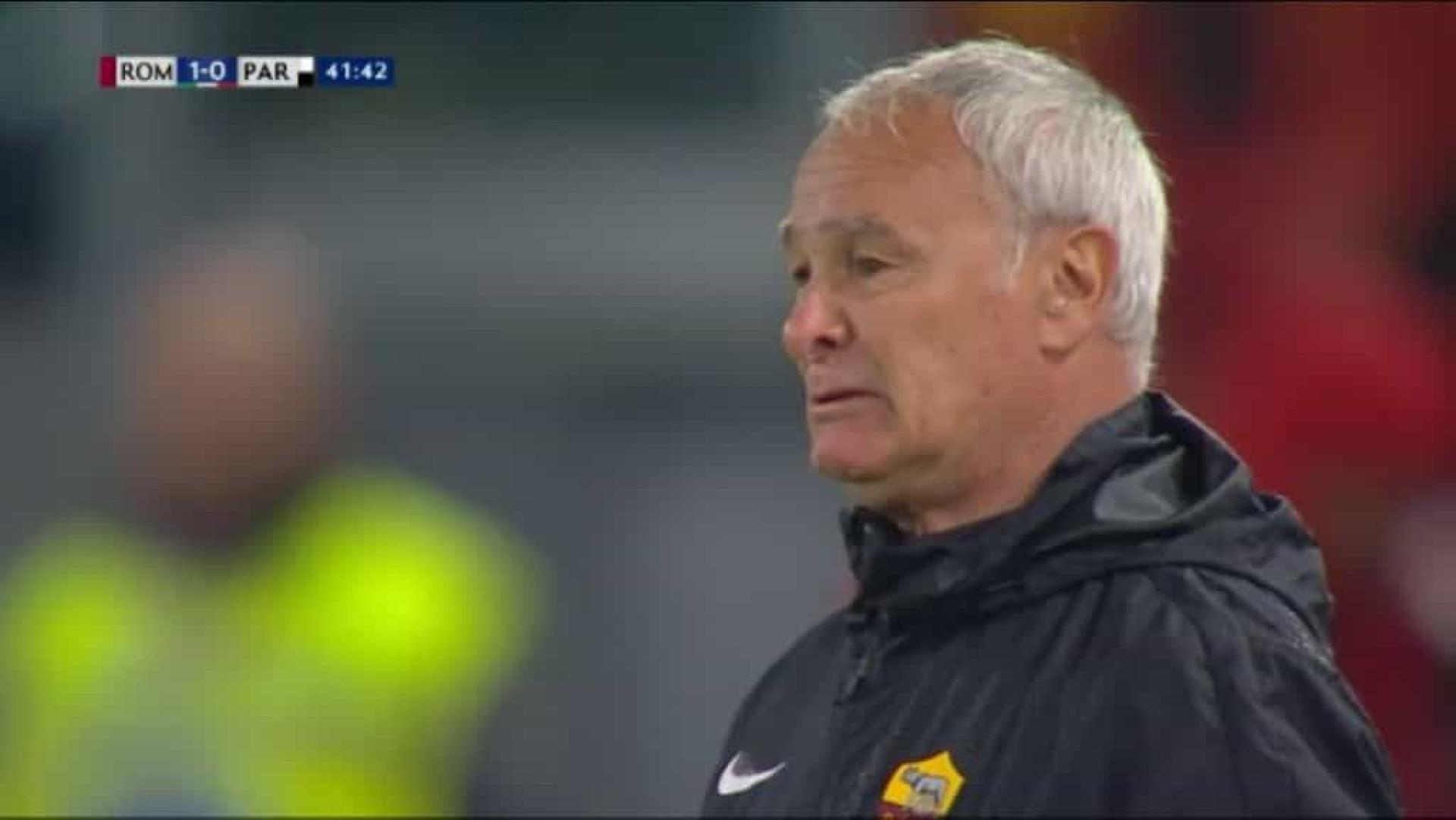 Ranieri ficou em lágrimas após gesto dos adeptos da AS Roma