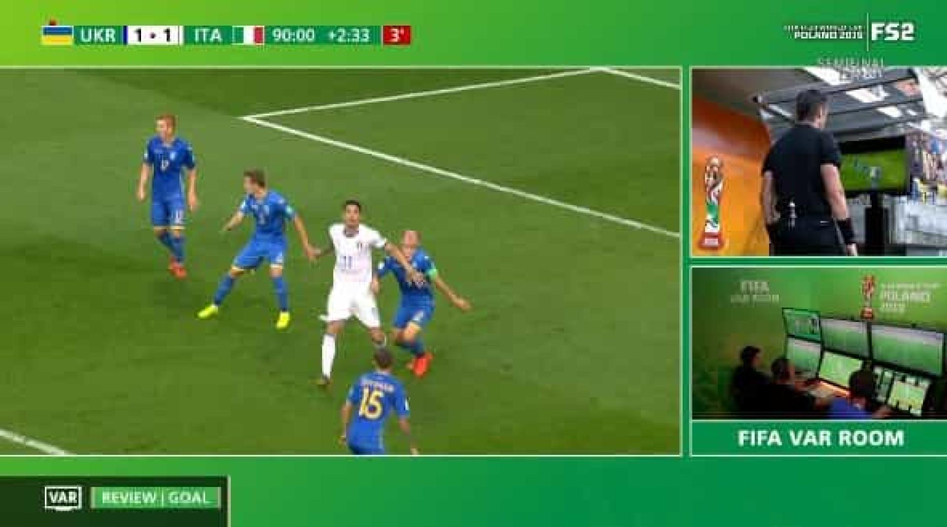 Mundial de sub-20: VAR anula golaço na compensação e Itália é eliminada