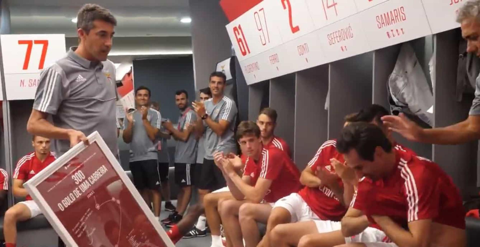 Benfica revelou como é que foi o último dia da carreira de Jonas