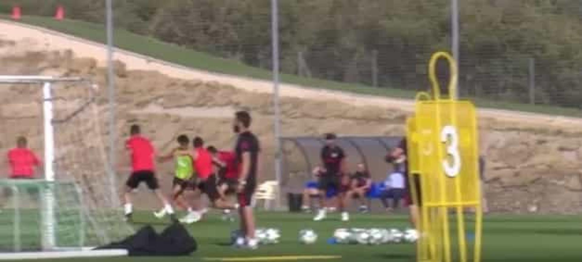 João Félix brilha em mais um treino do Atlético de Madrid