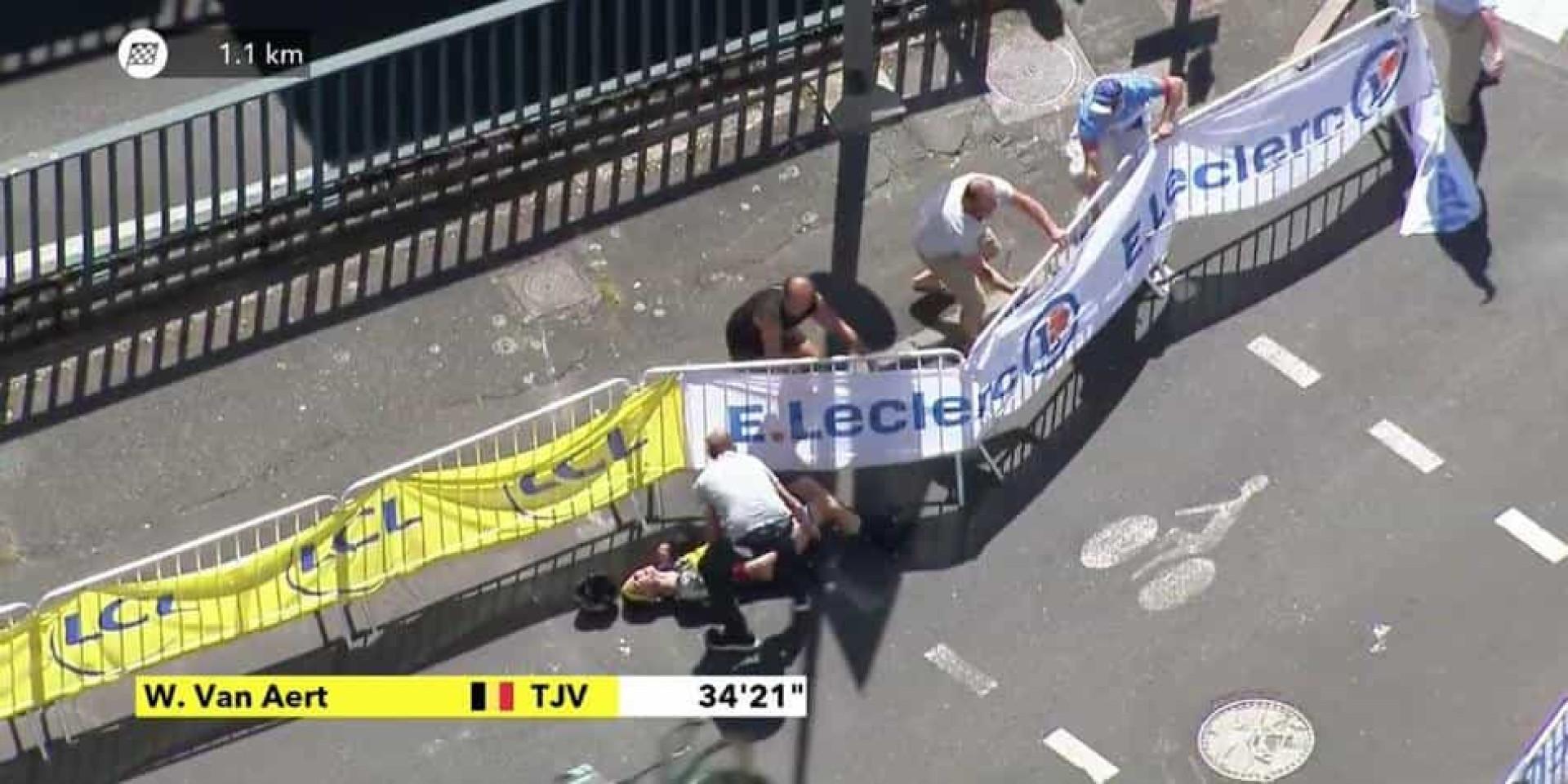 Ciclista belga obrigado a abandonar Tour de France após esta queda