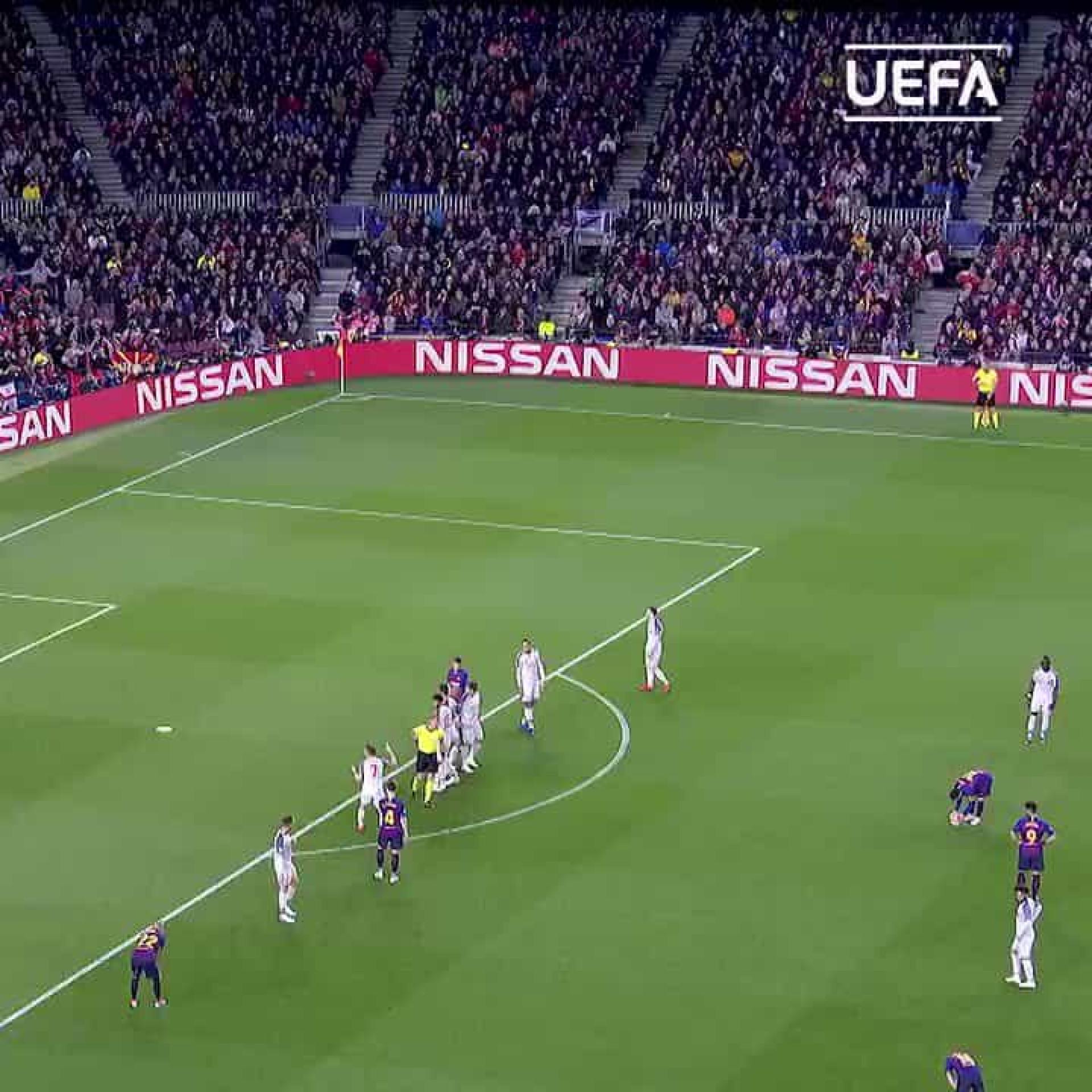 Livre de Messi frente ao Liverpool eleito melhor do ano para a UEFA