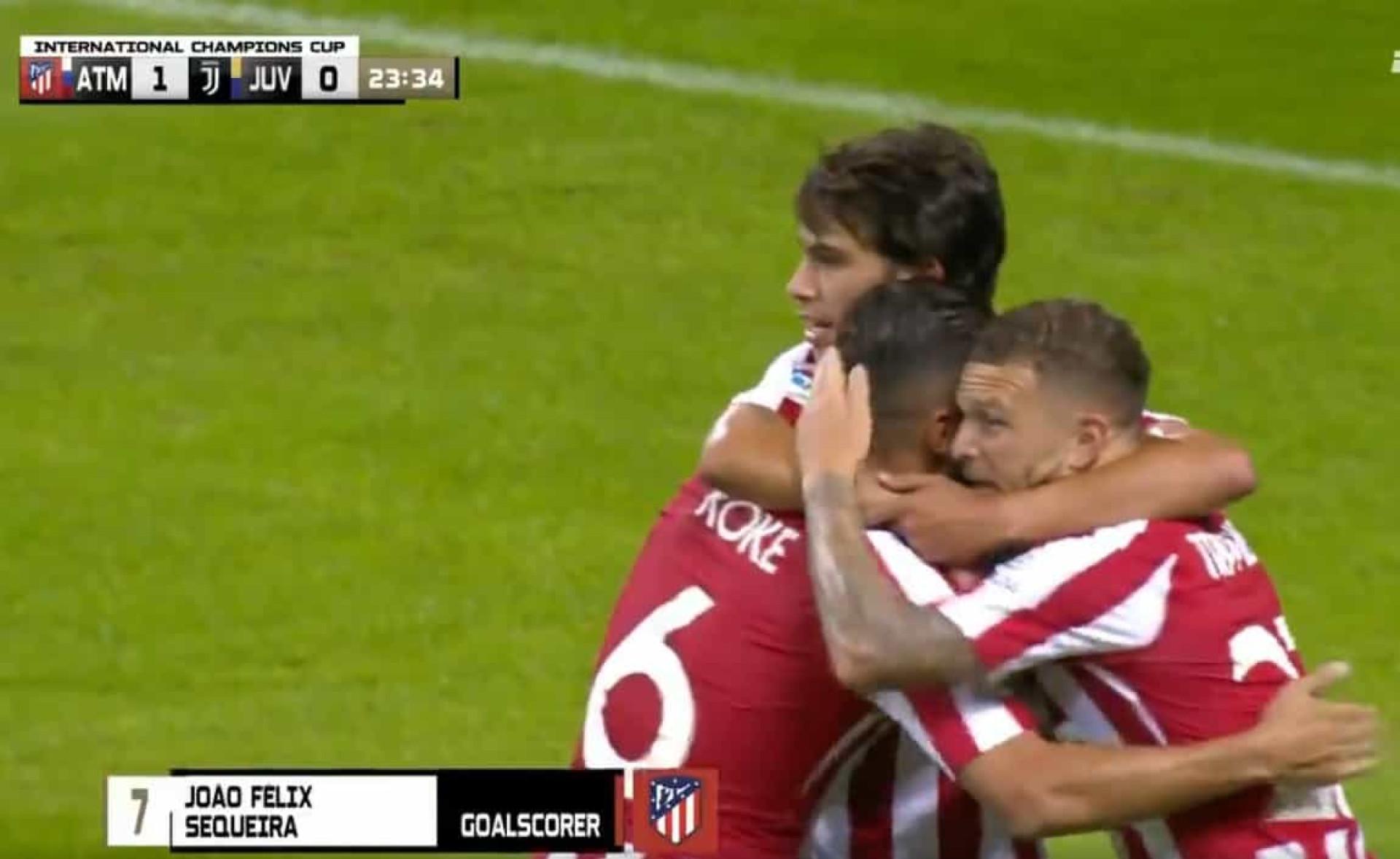 No Juventus-Atlético, o primeiro marcar (um golaço) foi... João Félix