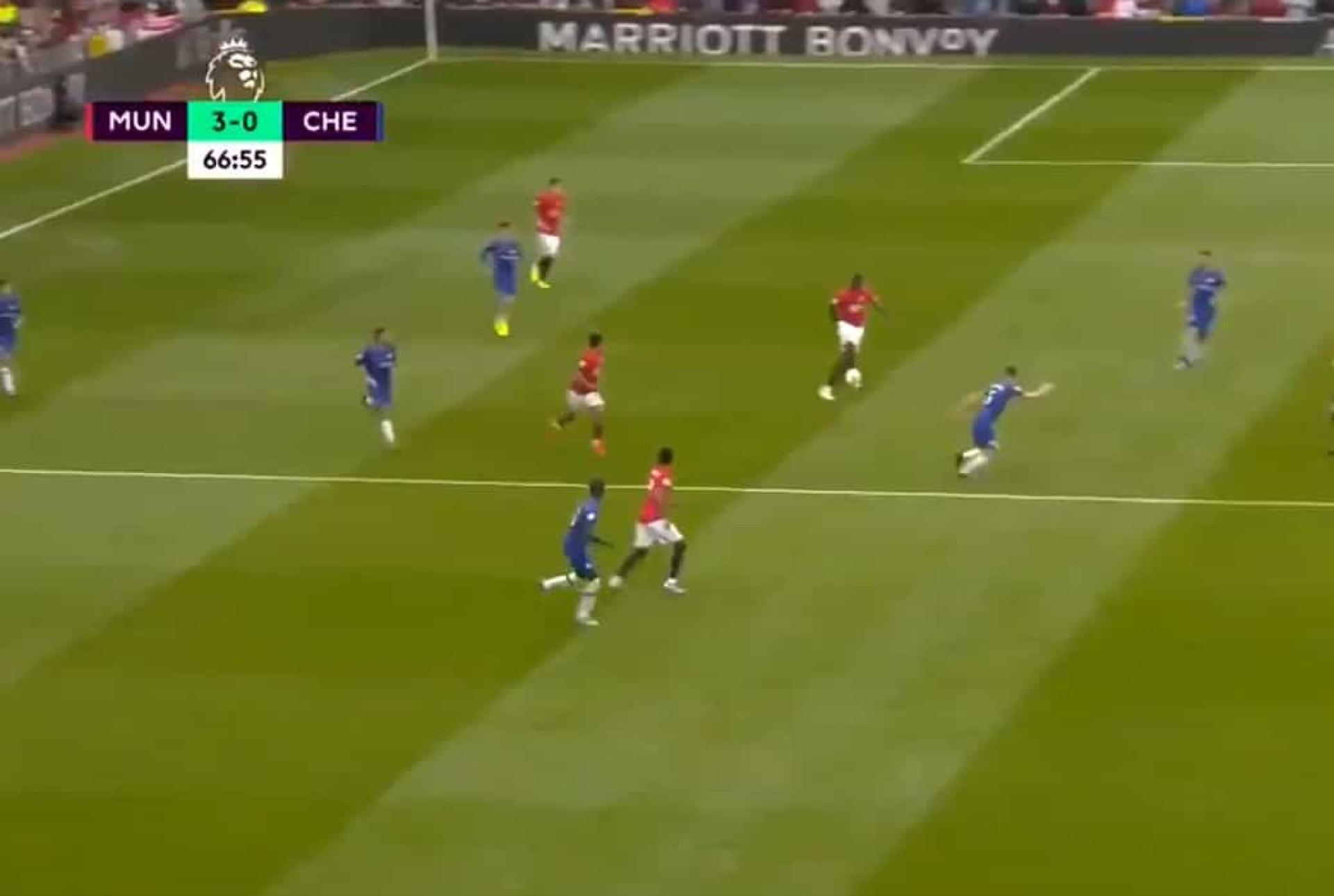 Assistência magistral de Pogba deixou o Chelsea 'cilindrado'