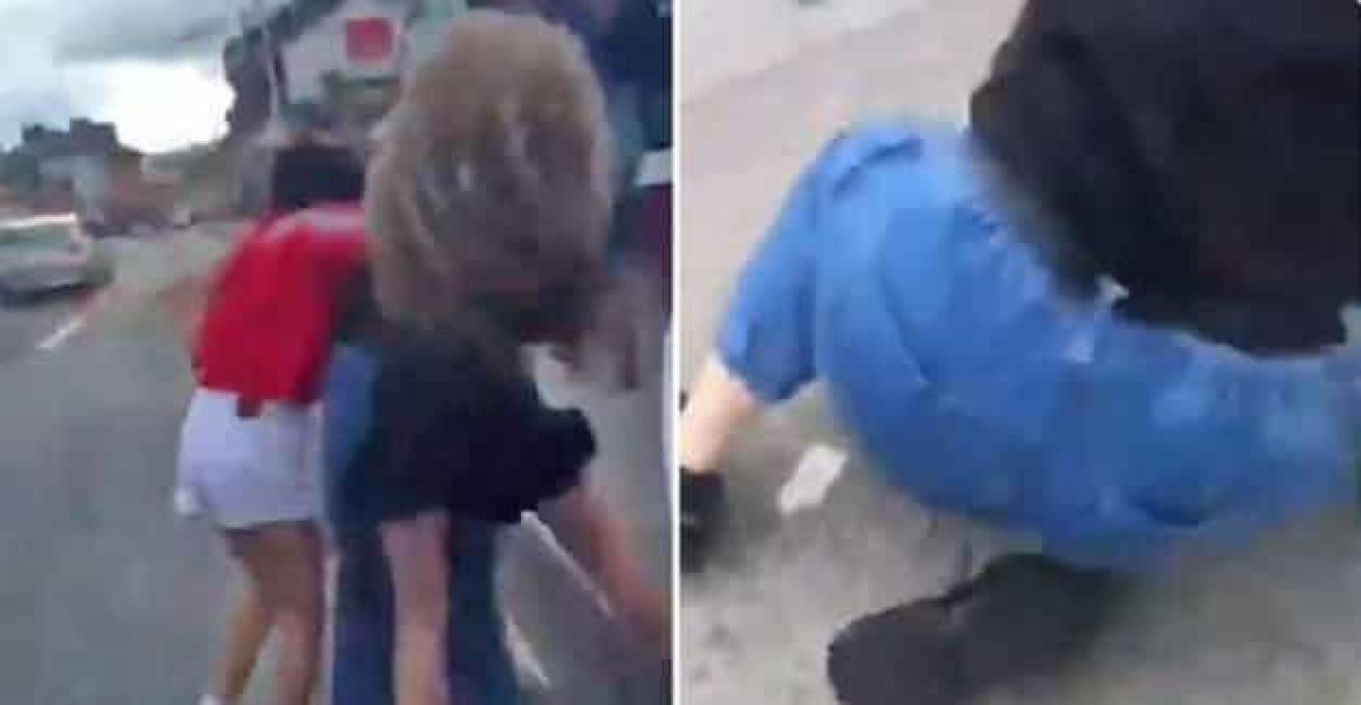 Jovem muçulmana vítima de violência em Dublin. Ataque foi filmado