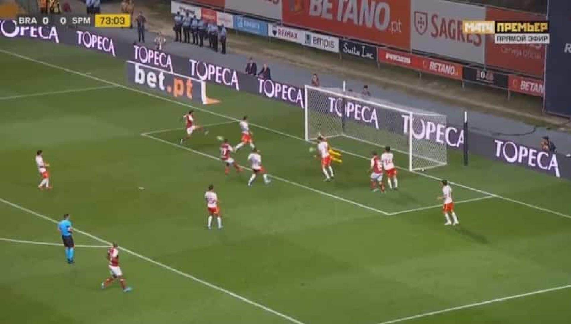 O golo de Ricardo Horta que 'abateu' o Spartak