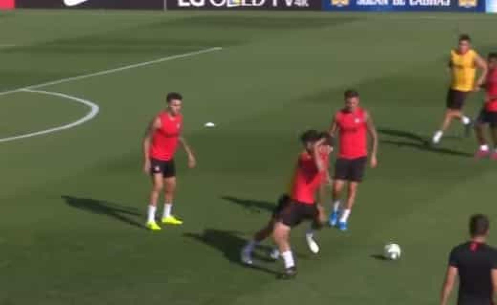 João Félix continua a impressionar no Atlético Madrid... até nos treinos