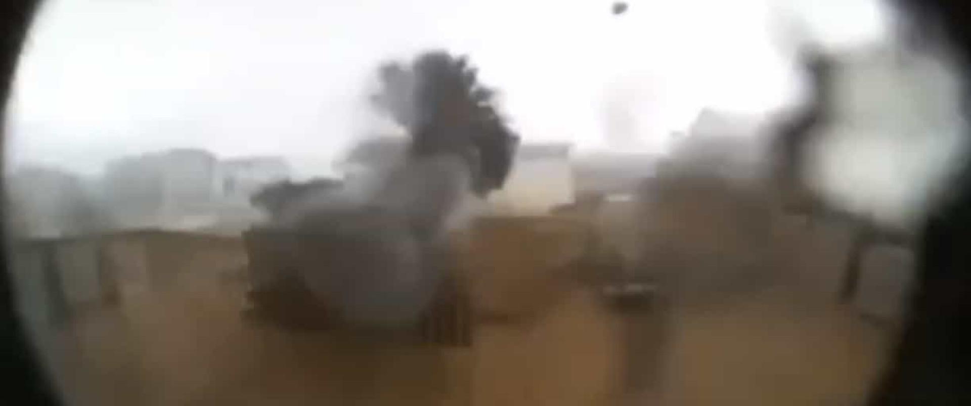 Tornado gerado pelo Dorian destruiu casa. Moradores viram imagens depois