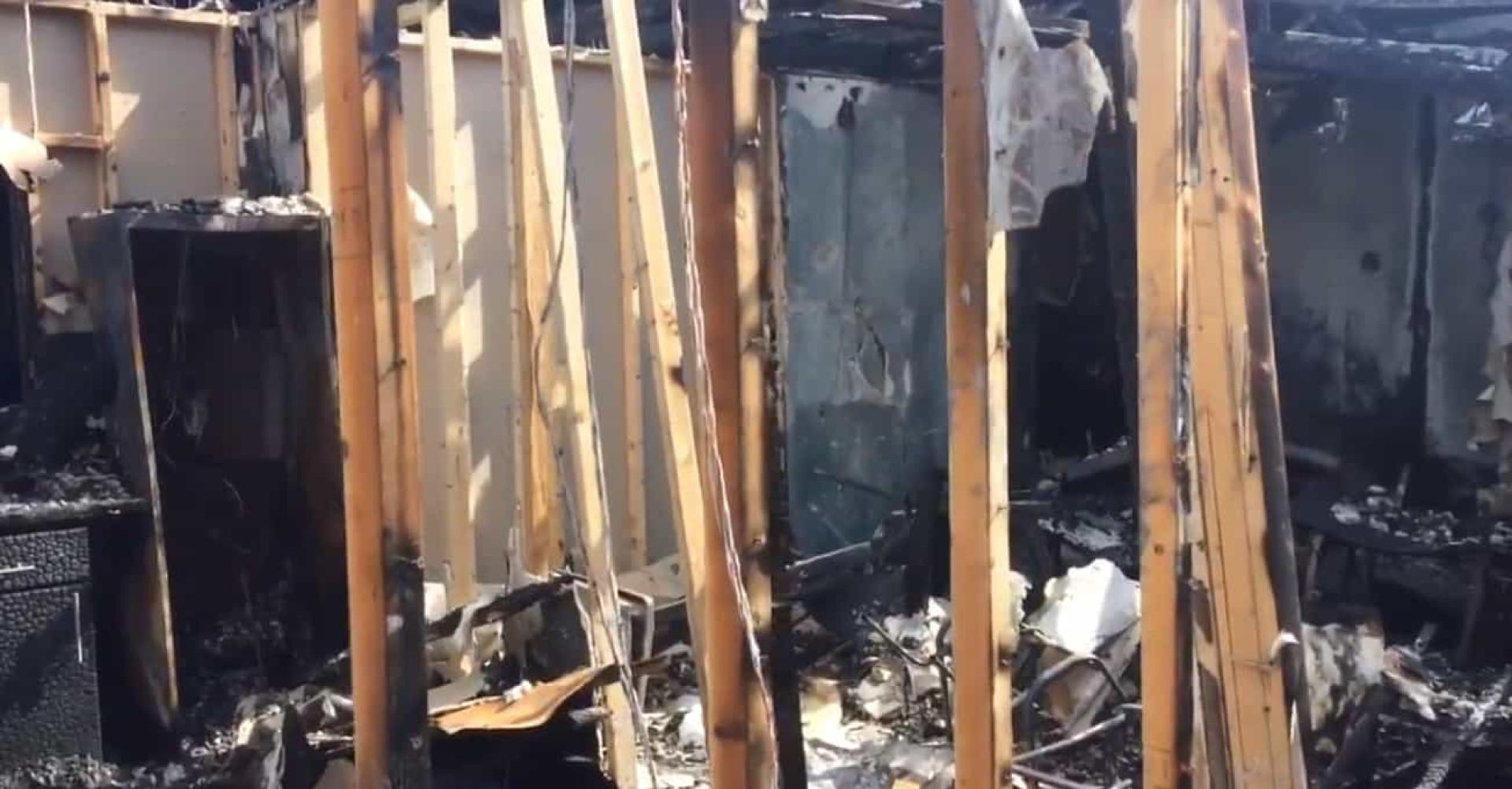 Incêndio devastador: Clube inglês ficou com a academia destruida