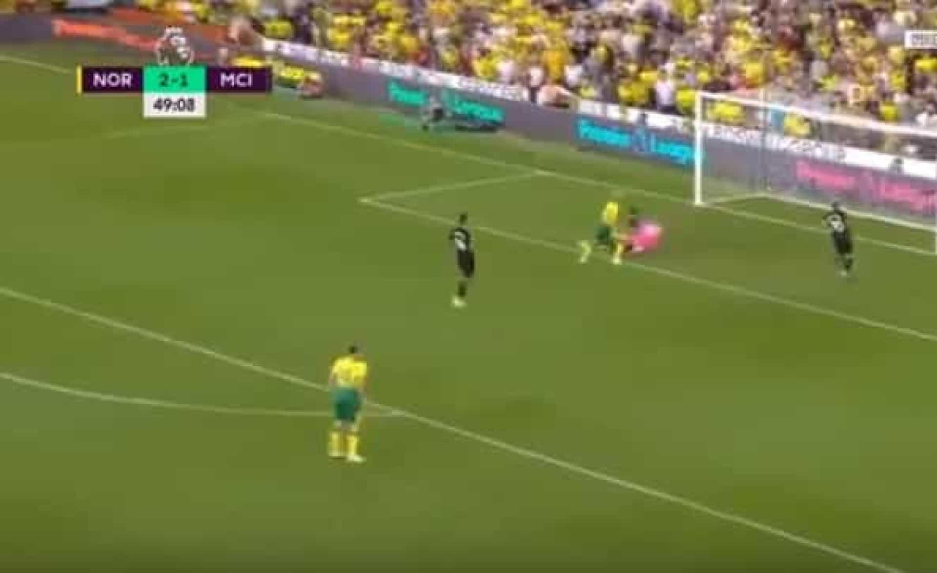 O golo do Norwich que demonstrou por completo que o City andou aos papéis