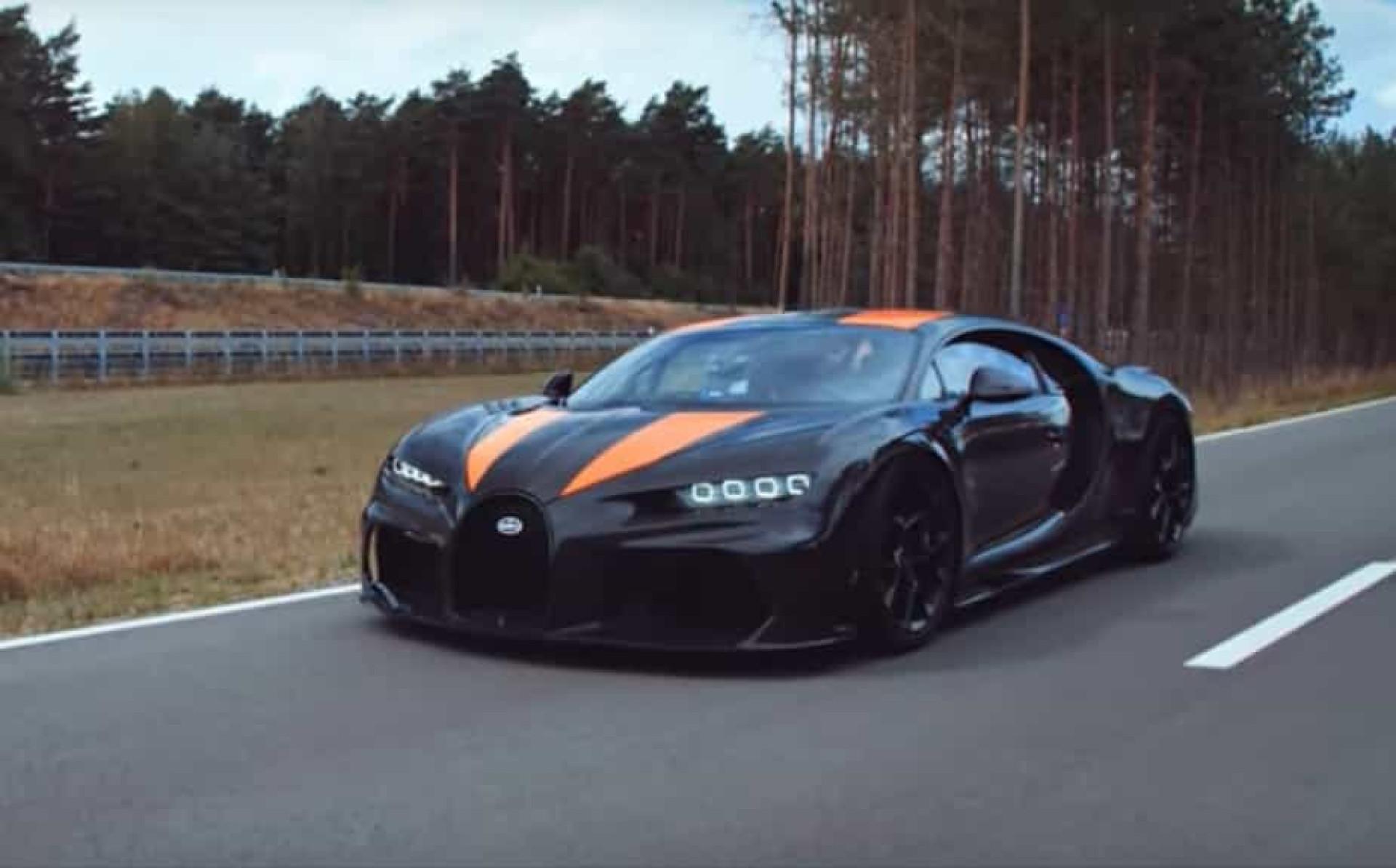 Bugatti Chiron quebrou recorde dos 482 km/h. Imagens são impressionantes