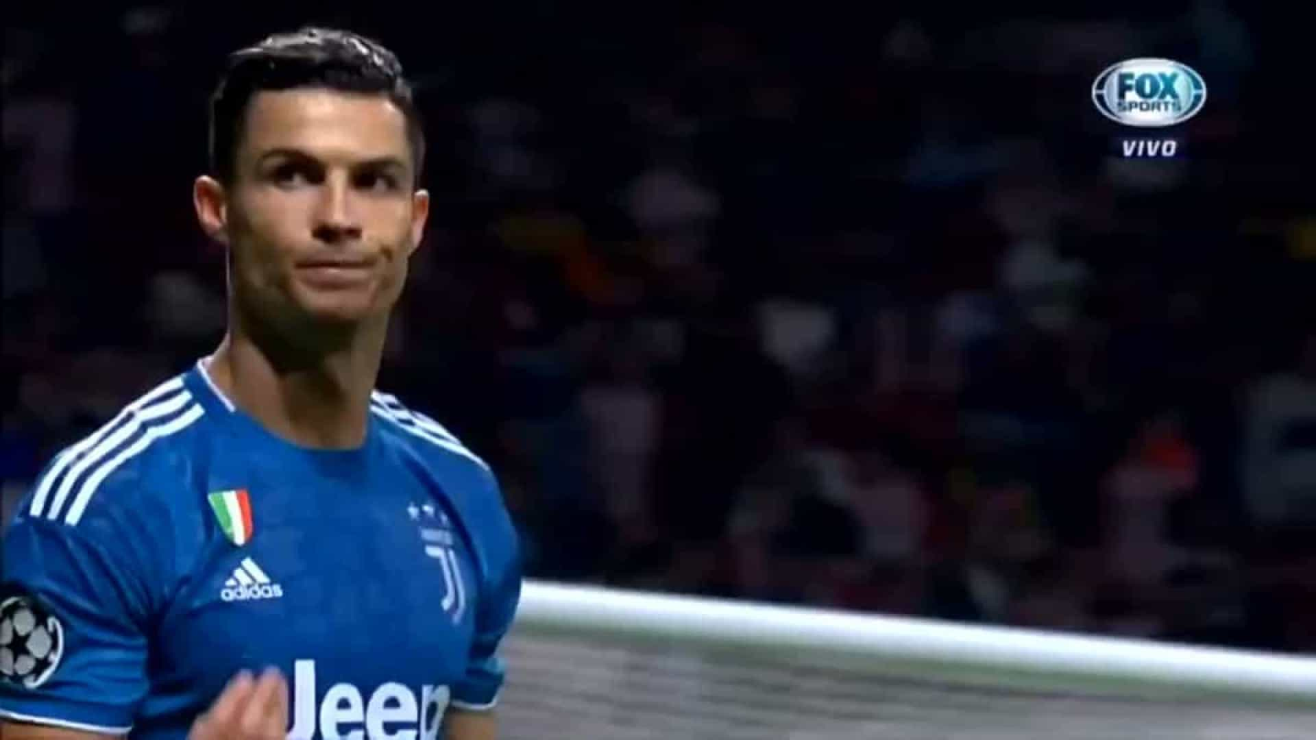 O 'polémico' gesto de Ronaldo para os adeptos do Atlético