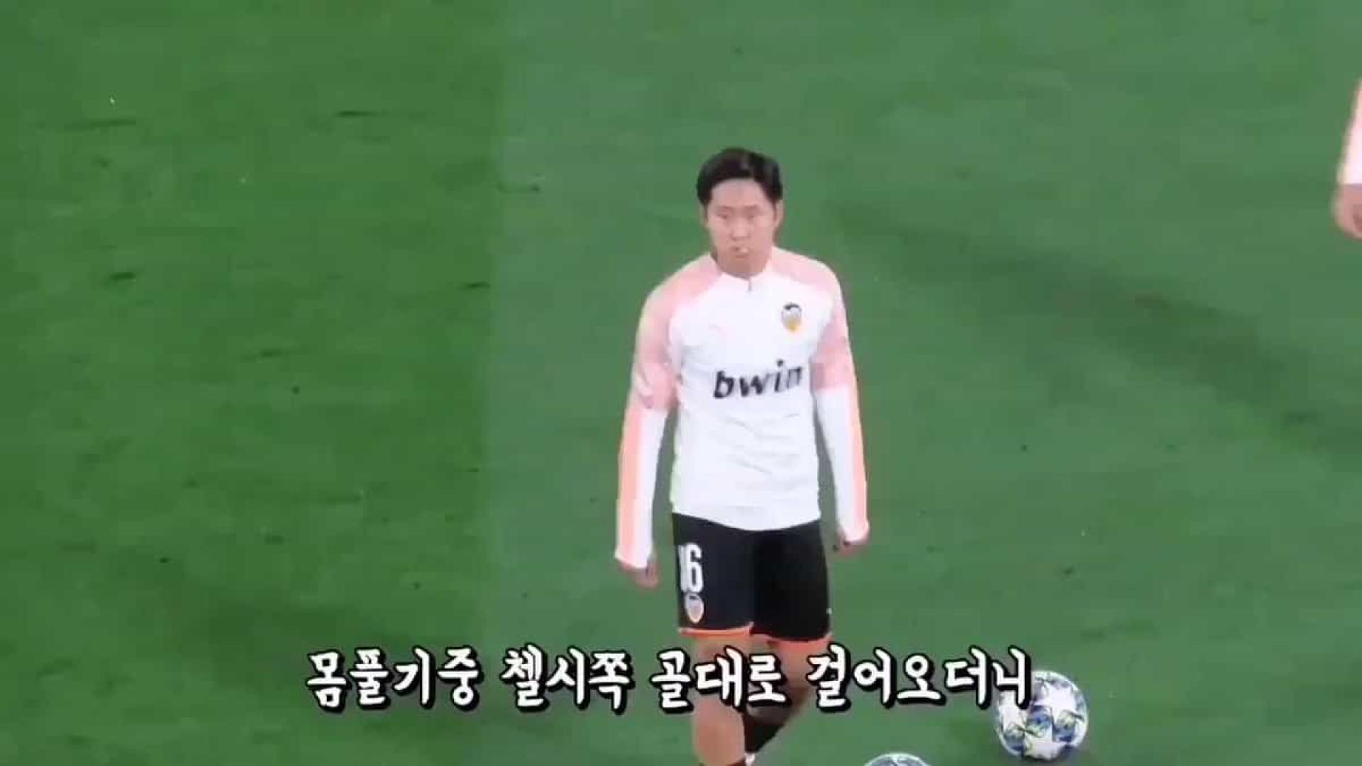 Crossbar Challenge? Não, é o aquecimento de Kangin Lee