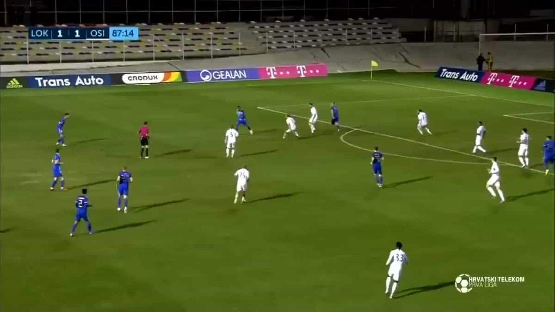 Marko Tolic aponta golaço na Liga croata que promete correr mundo
