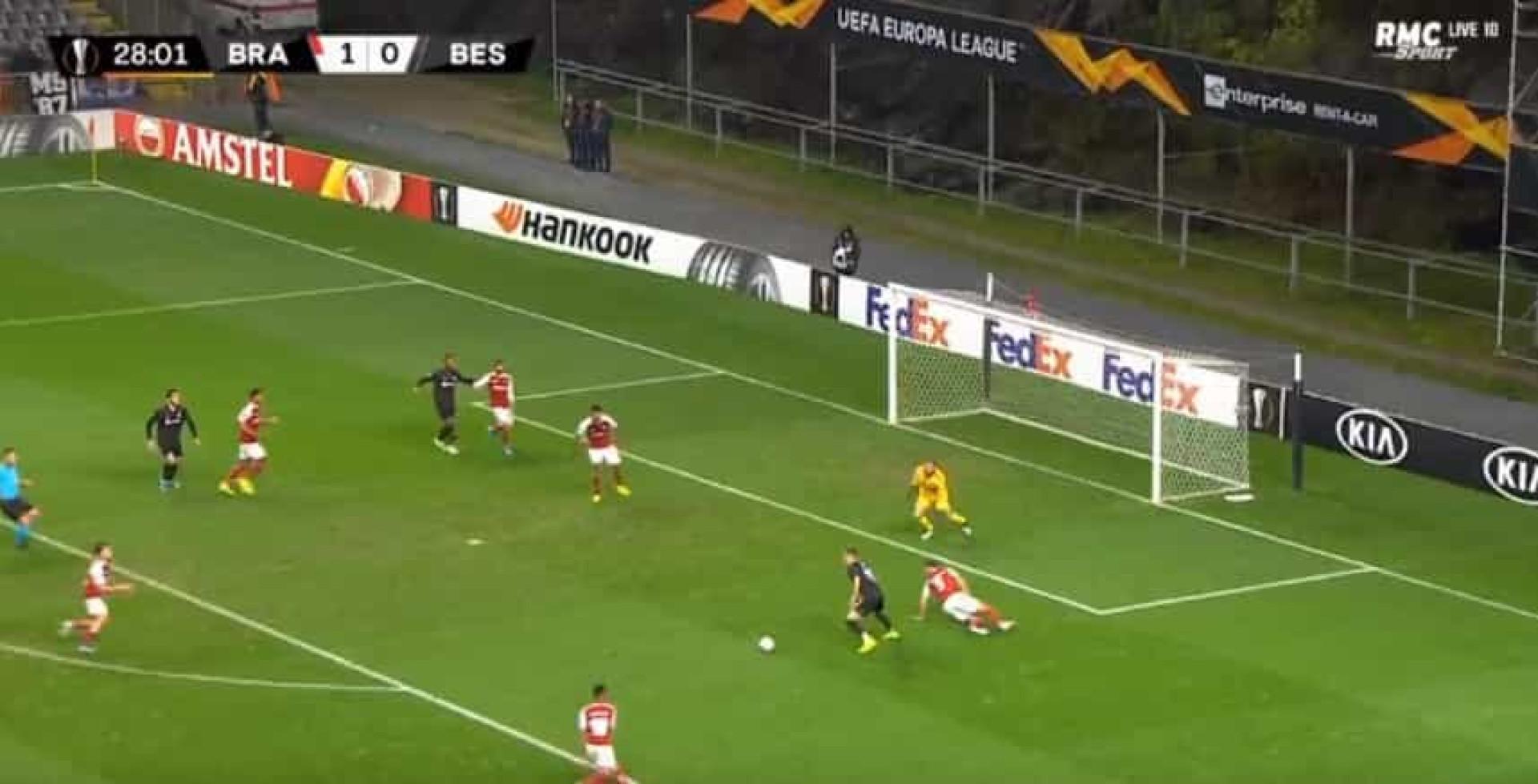 Adeptos do Vitória SC até sorriram com o golo do Besiktas em Braga