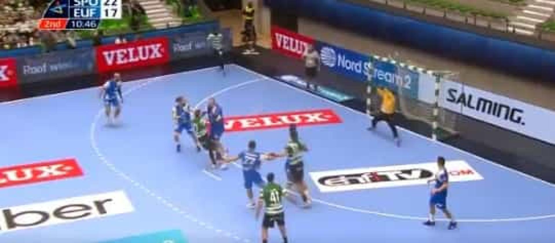 Este golo de Ruesga na vitória do Sporting está a encantar a Europa