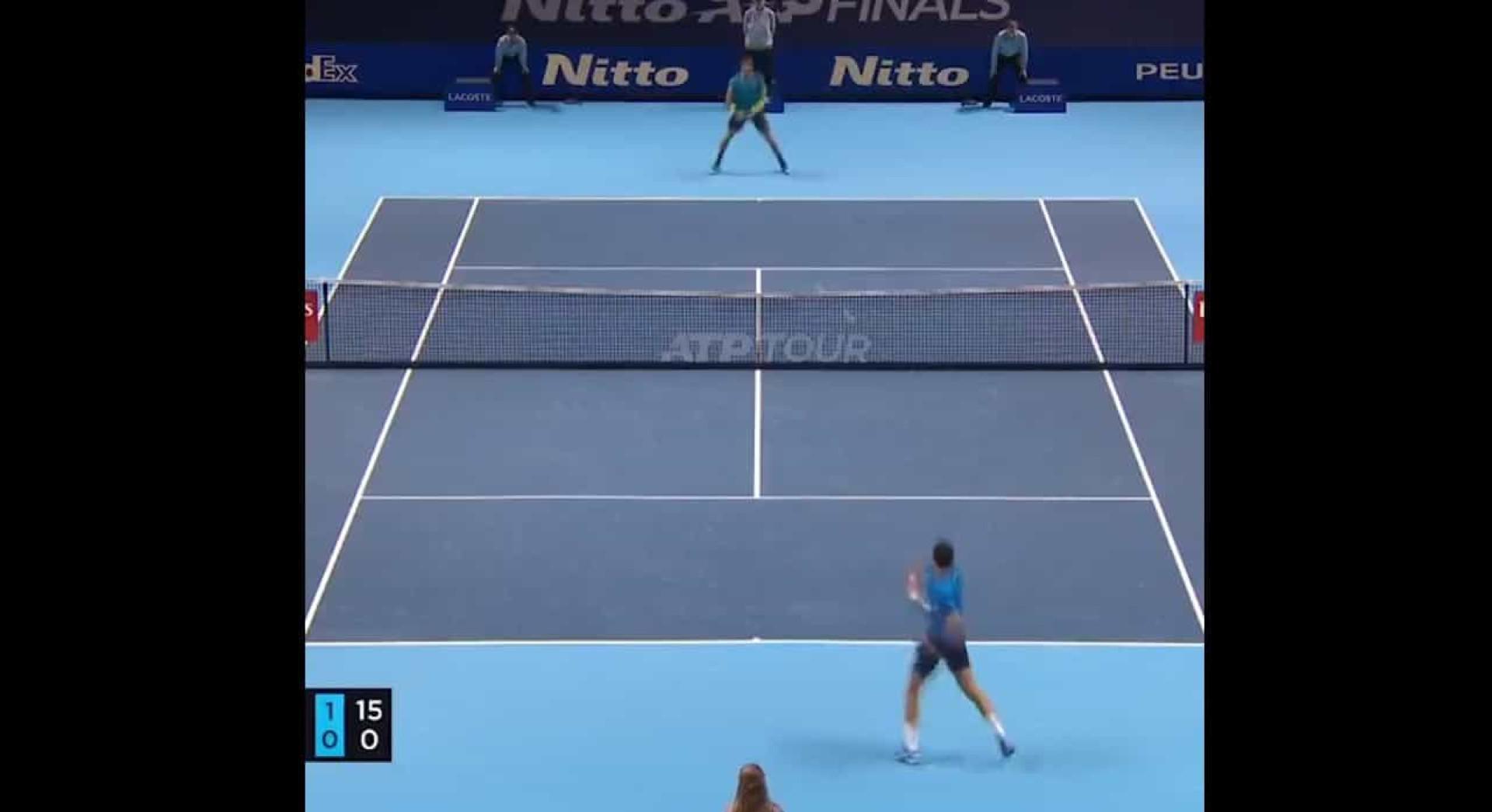Até Djokovic aplaudiu este ponto monstruoso de Berrettini