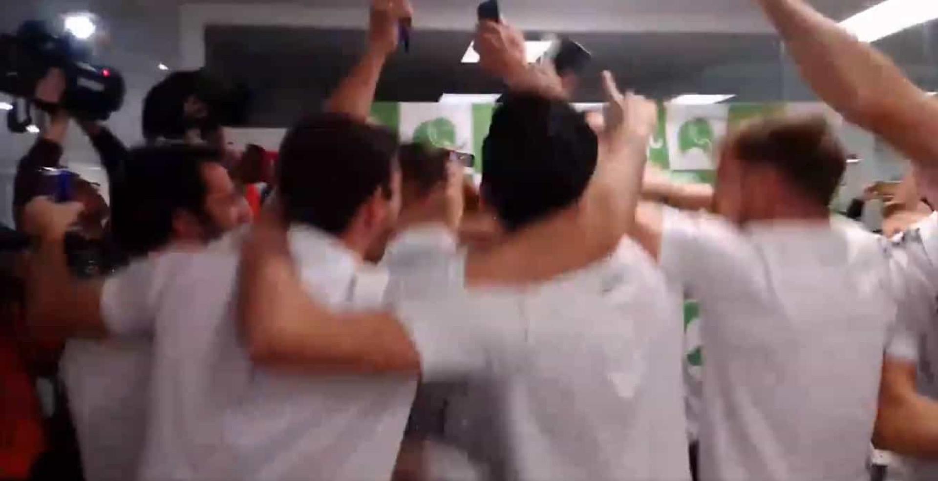 A loucura dos jogadores do Unionistas quando foi sorteado o Real Madrid