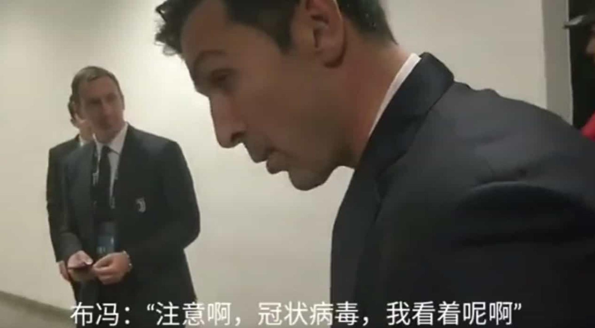 Itália em fúria com Buffon: Guardião brinca com chinês sobre coronavírus