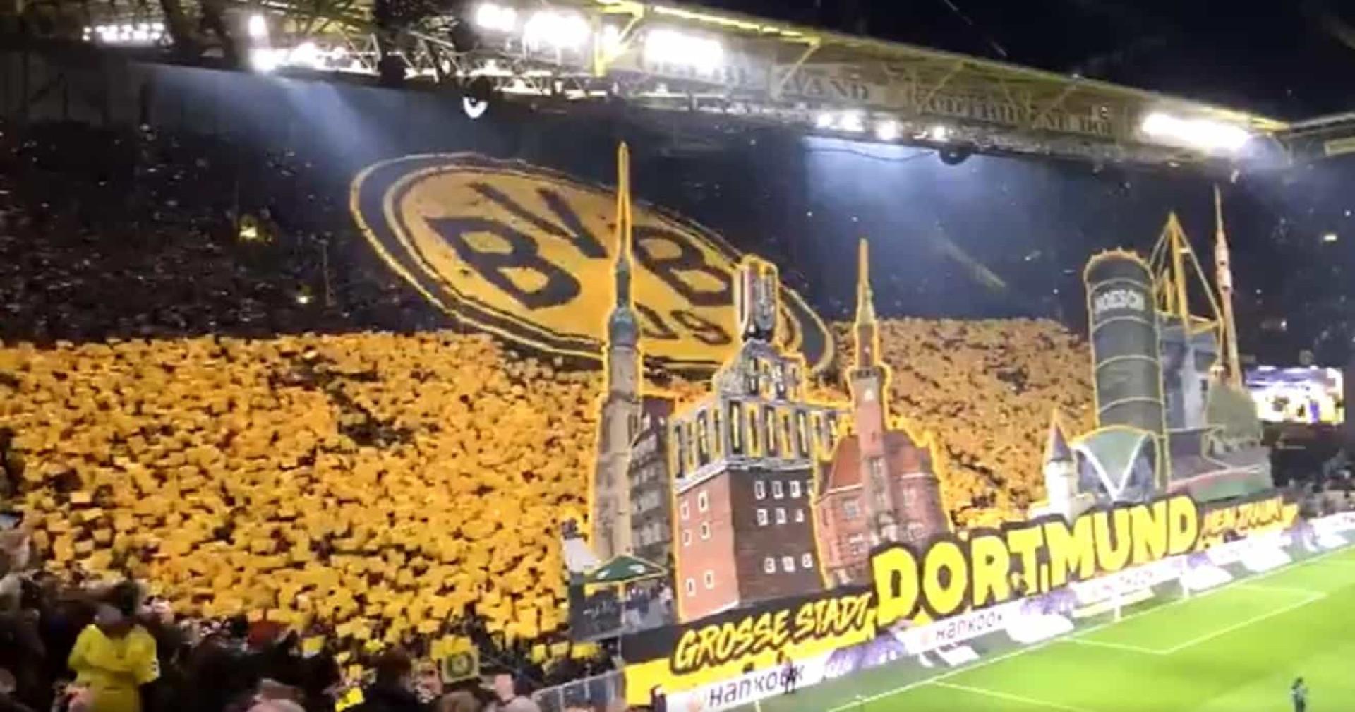 Incrível: Esta coreografia dos adeptos do Dortmund vai dar que falar