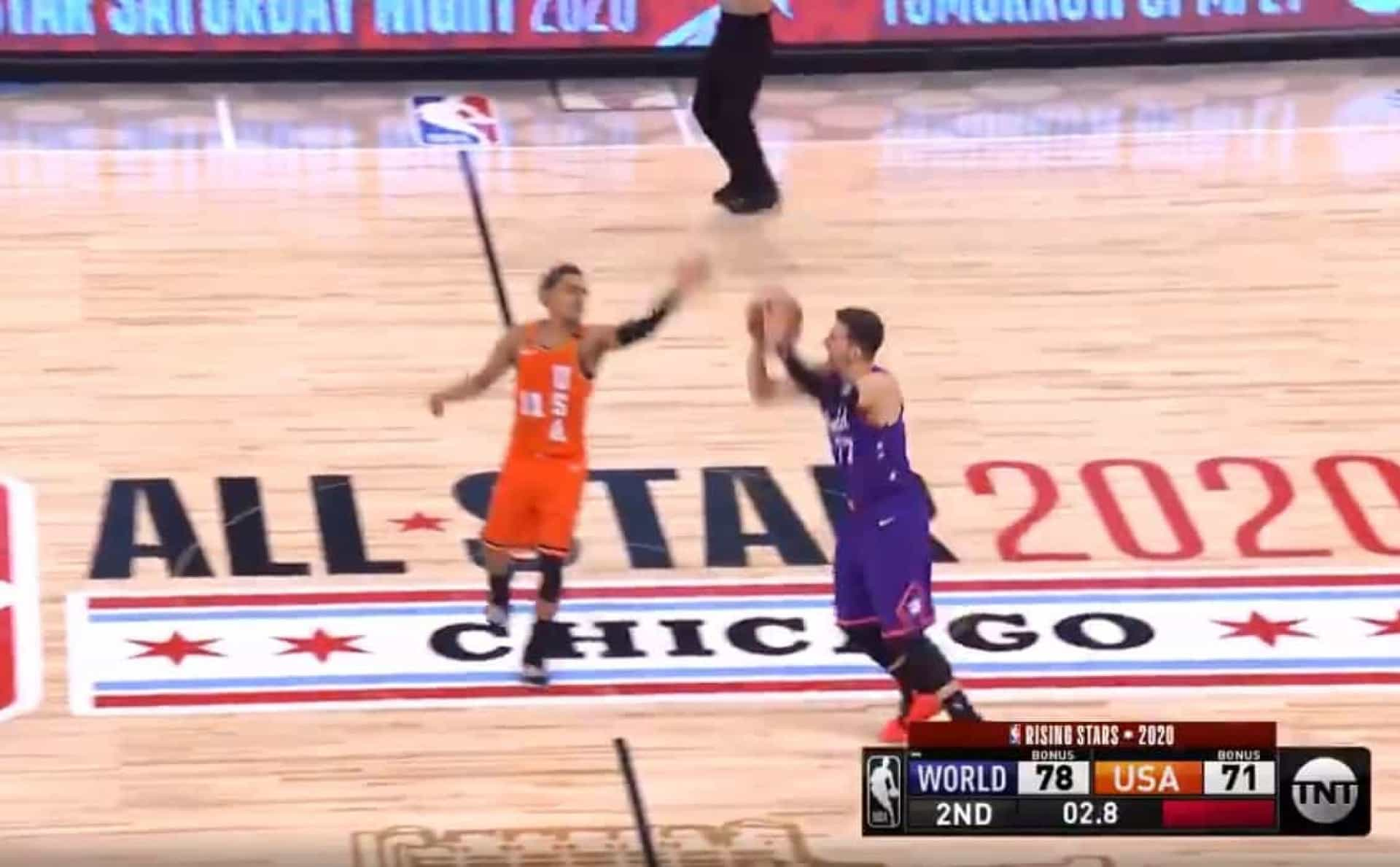 Doncic e o triplo no Rising Stars da NBA que nem ele acreditava