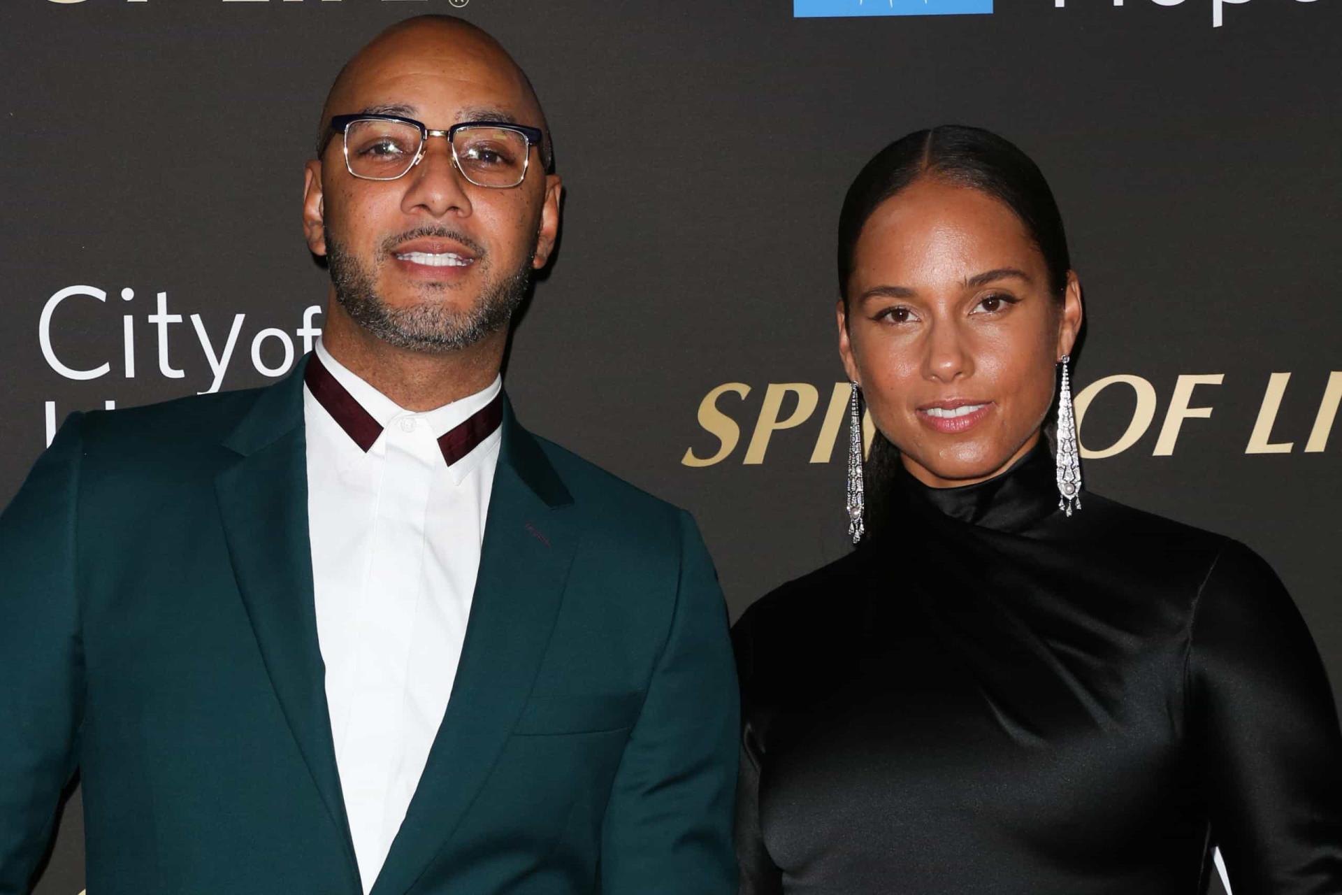 Alicia Keys e Swizz Beatz celebram dez anos de casamento