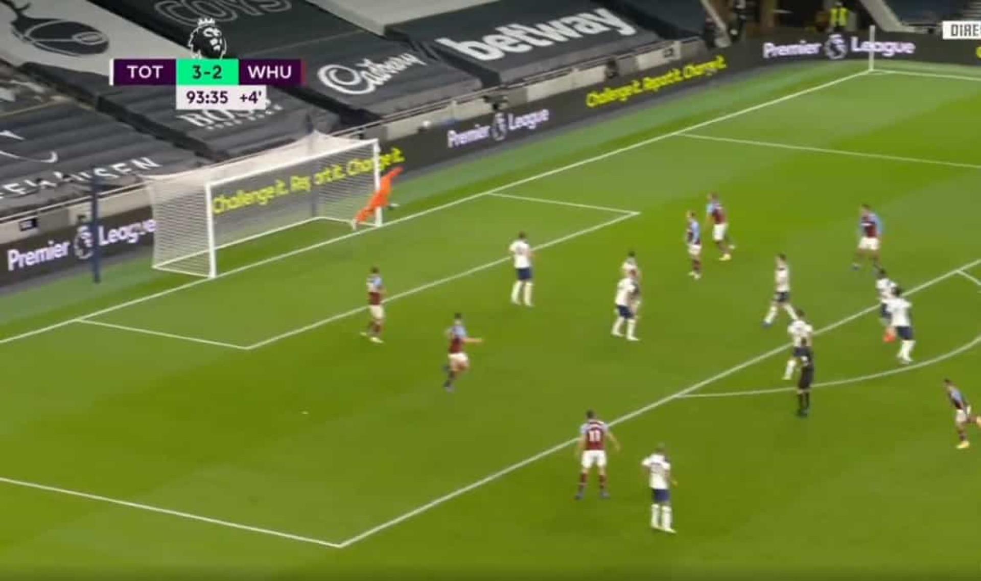 O golaço de Lanzini que travou o Tottenham de Mourinho