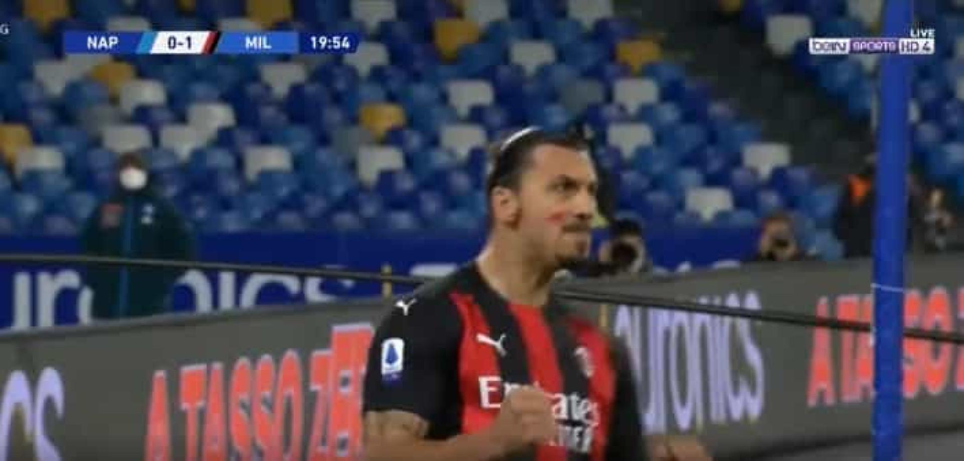 Zlatan não perdoa. O impressionante cabeceamento que 'tramou' o Napoli