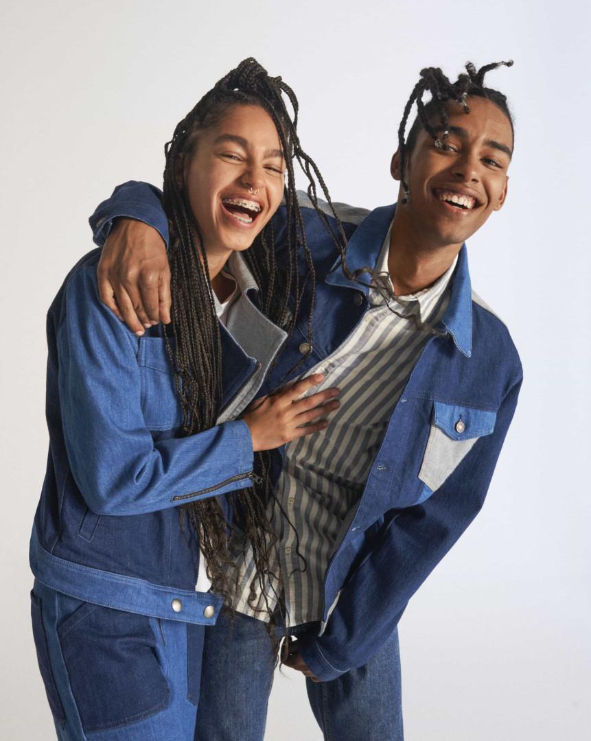 Coleção de blusões de ganga Ecowash da Benetton