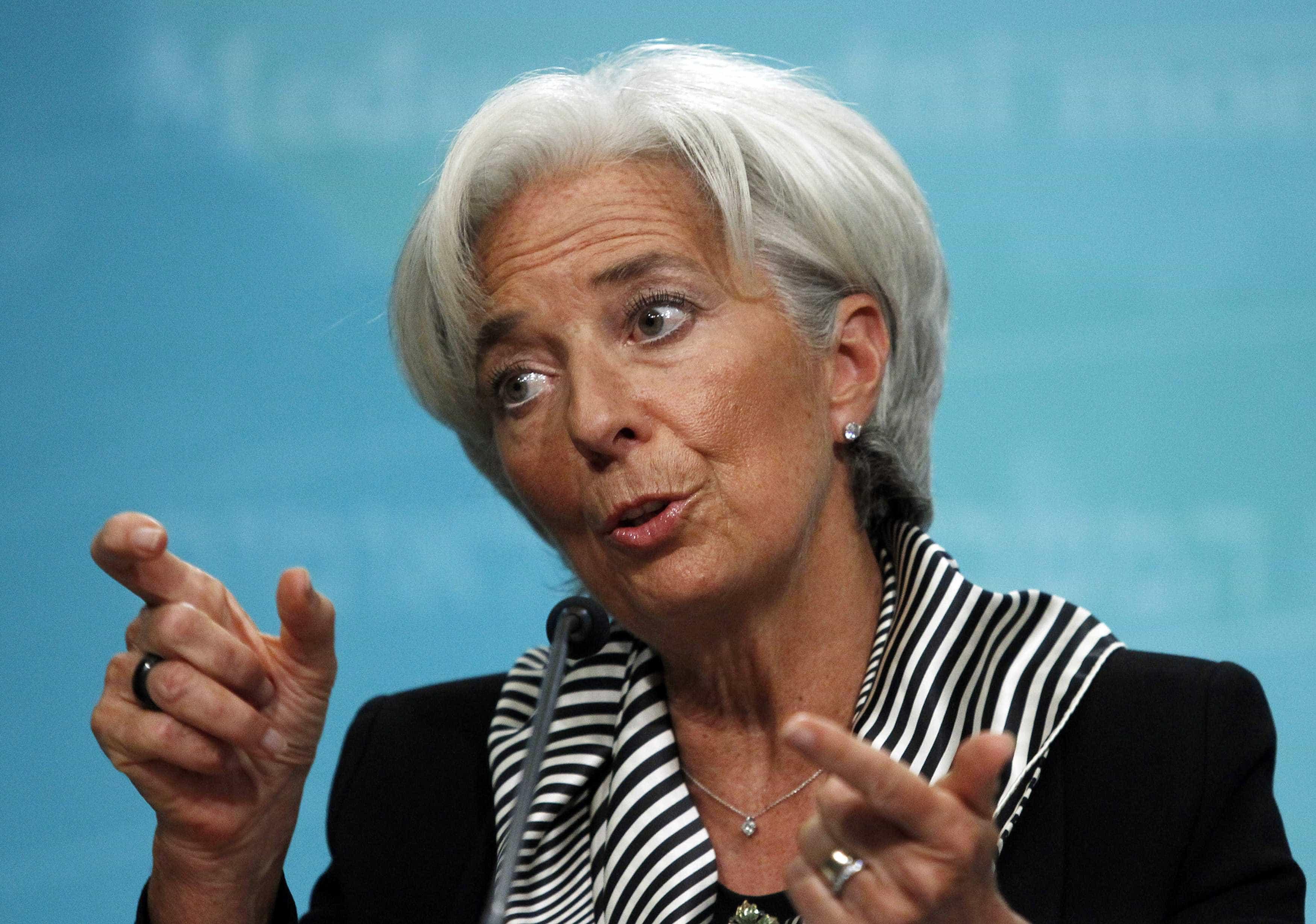 Lagarde não vê elementos de recessão nos EUA a curto prazo