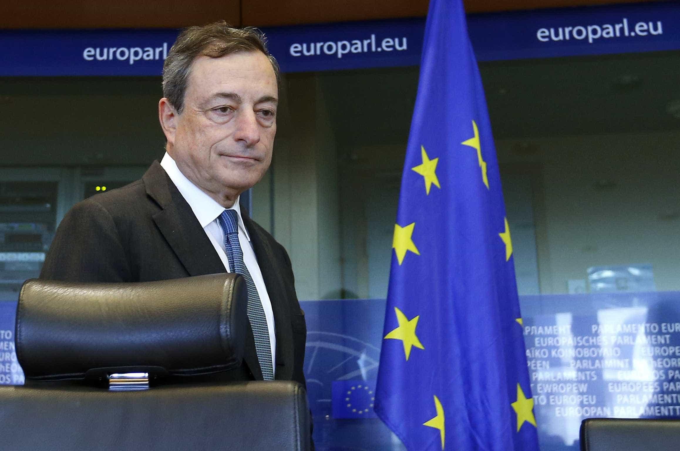 Draghi no Parlamento após se saber se Alemanha entrou em recessão