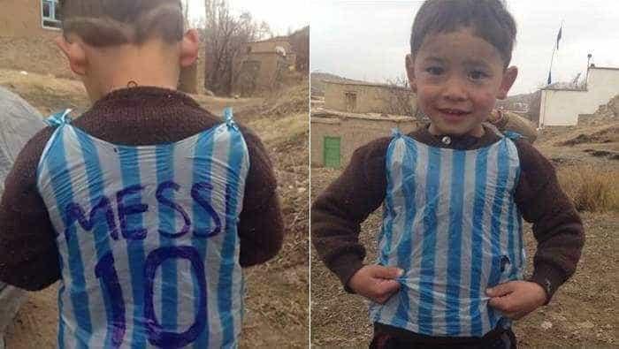 Lembra-se do menino com a camisola de Messi? Talibãs tramaram-lhe a vida