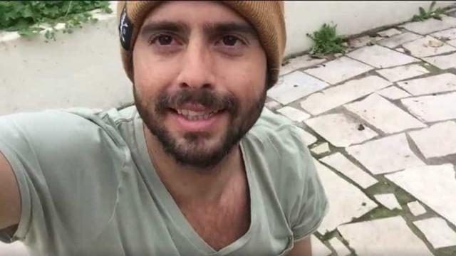 A selfie de João Manzarra que está a dar que falar por pormenor insólito