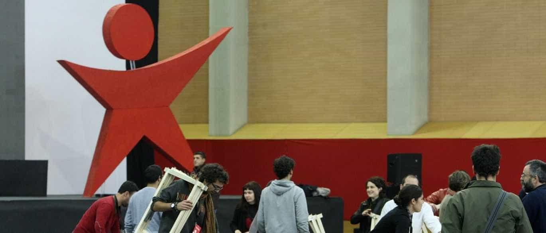 Catarina Martins, Louçã, Fazenda e Rosas em comício comemorativo do Bloco