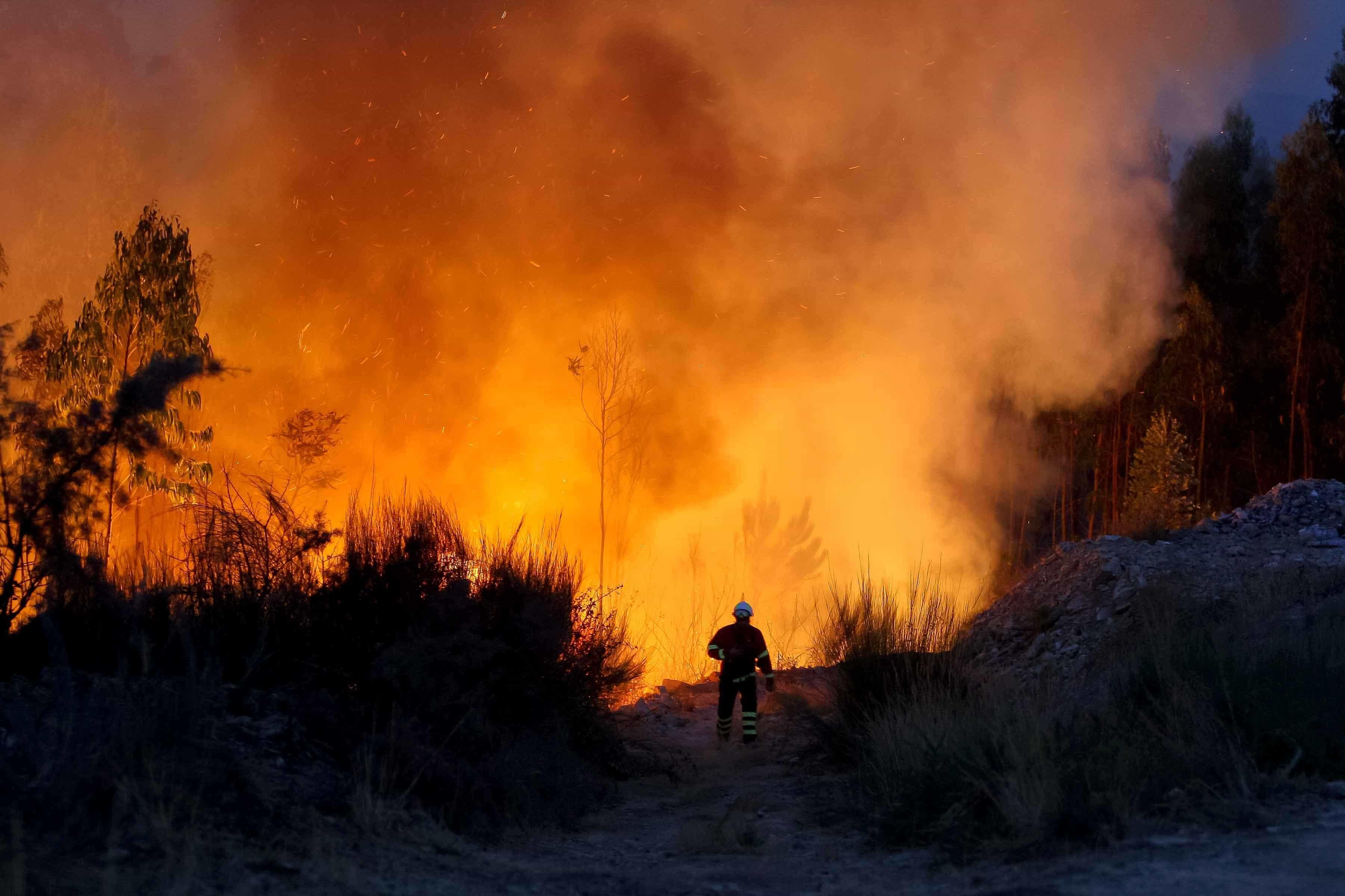 Quase 1.800 operacionais no combate a seis fogos em cinco distritos