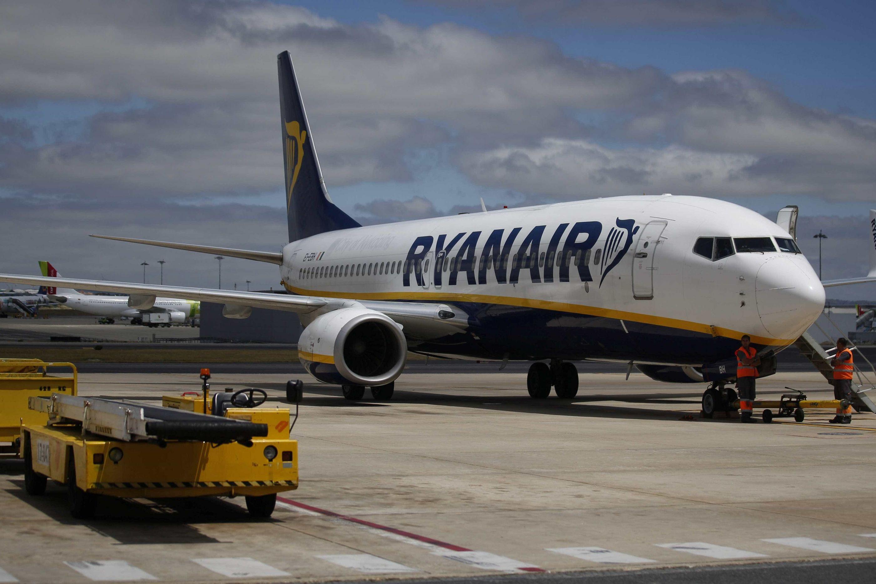 Greve na Ryanair e Groundlink com adesão a rondar 90%