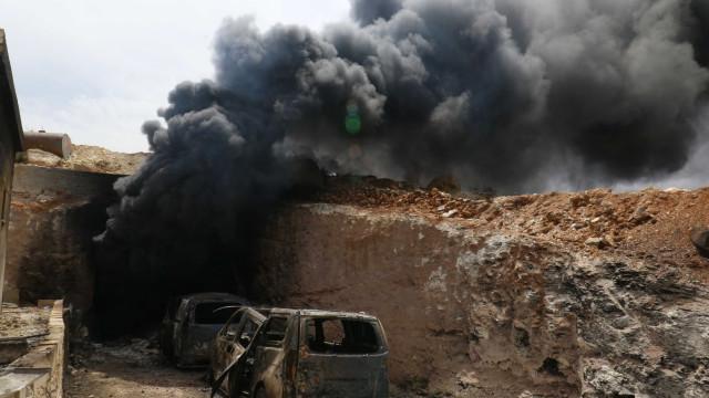 Arredores de Damasco debaixo de ataque de mísseis